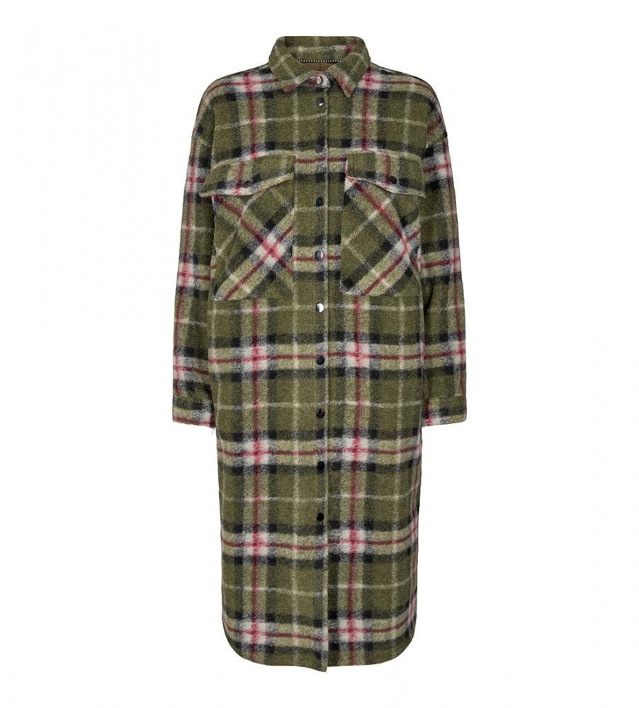 Co`couture jakke kelly long wool jacket army Primula Faktor Y